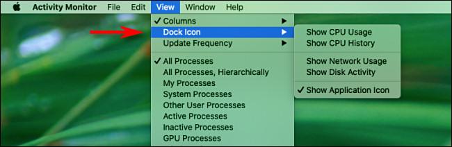Mac Activity Monitor View Menu