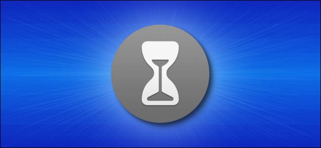 Mac ScreenTime Icon Hero - Gris sobre azul