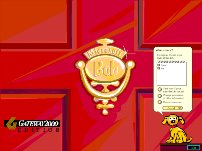 The front door and knocker in Microsoft Bob.