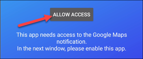 navigation pro notification access