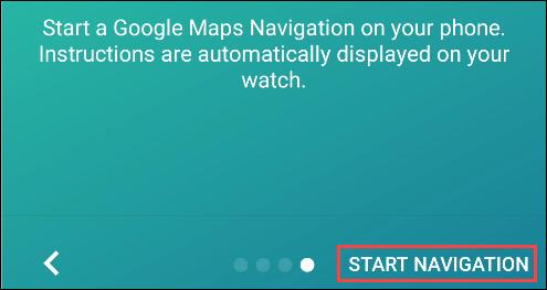 navigation pro start navigation