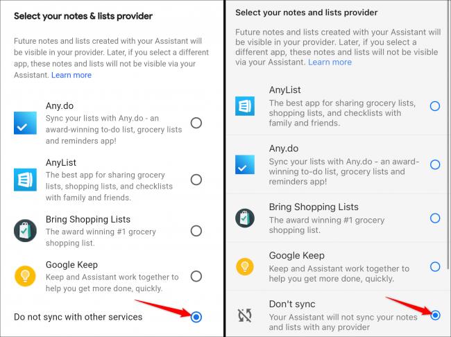 listas de notas predeterminadas de inicio de google android iphone