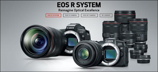 Un anuncio para las cámaras sin espejo Canon EOS R System.