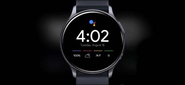 A Samsung Galaxy smartwatch featuring a Pixel watch face.