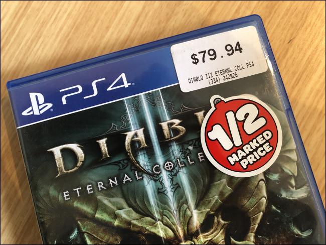 """Una copia de segunda mano rebajada de """"Diablo III"""" para PS4."""