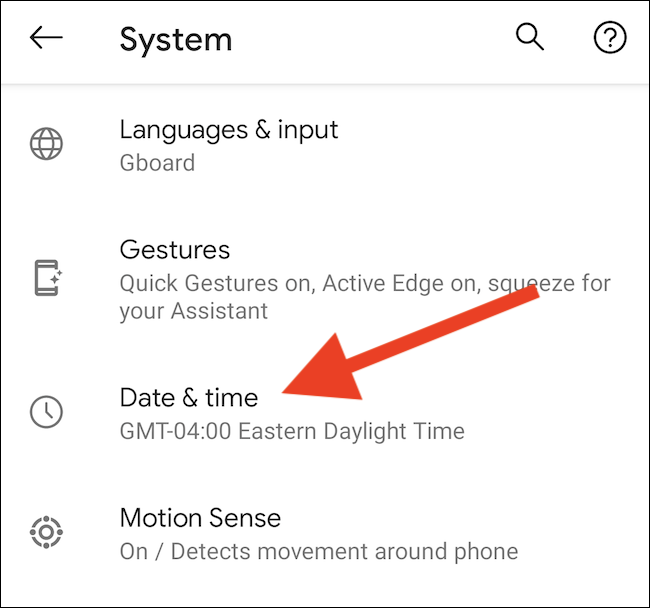 "Tap the ""Date & Time"" option"