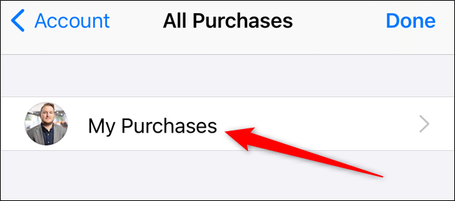"Tap the ""My Purchases"" option"