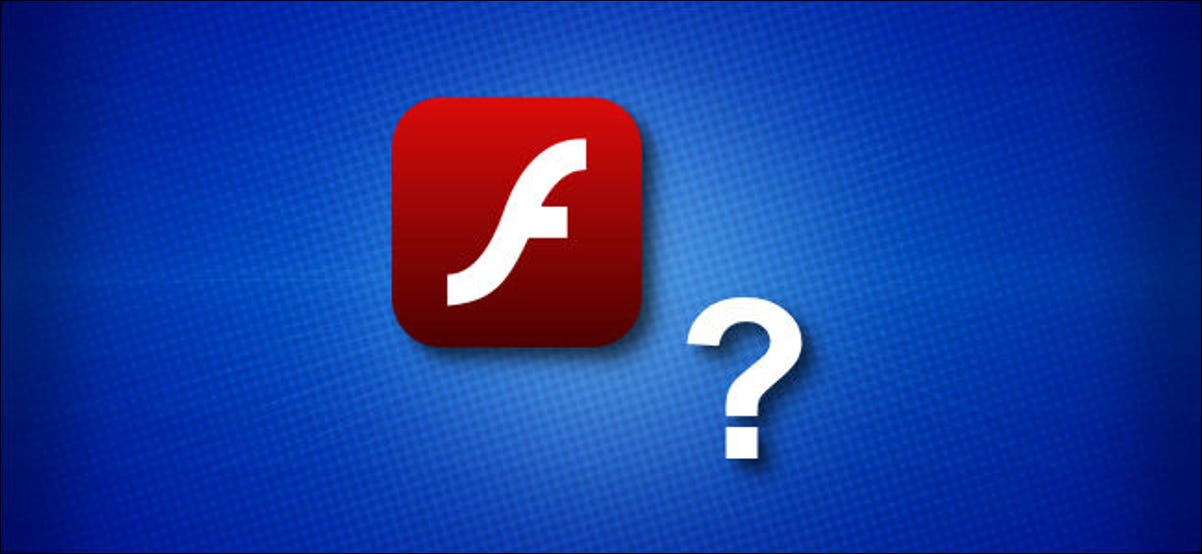 The Adobe Flash icon and a question mark.