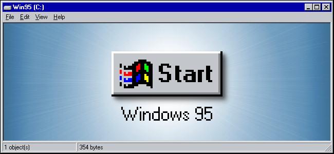 The Windows 95 Start button.