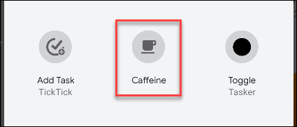 android caffeine toggle