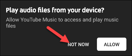 youtube music files from device