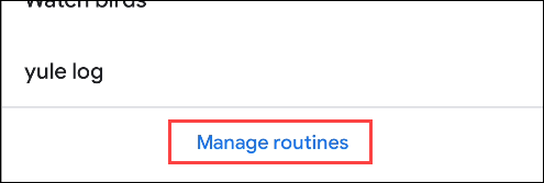 google home management routines