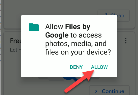 files with Google permissions