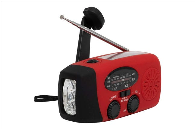Aivica Portable Hand Crank Radio/USB Charger