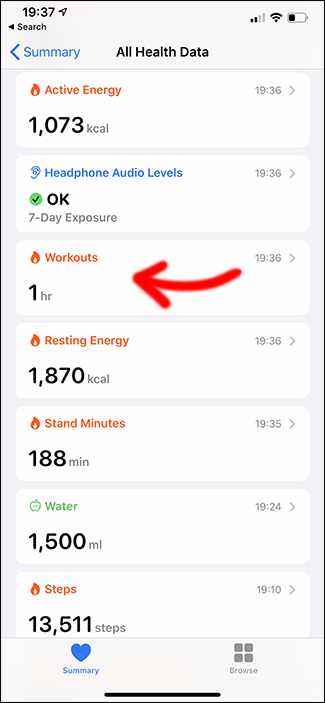 apple health app deleting workout