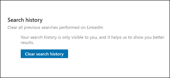LinkedIn Search Clearing