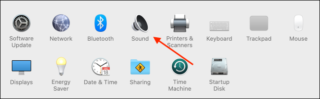 Select Sound from system settings