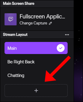 "Select an option in the ""Stream Layout"" menu."