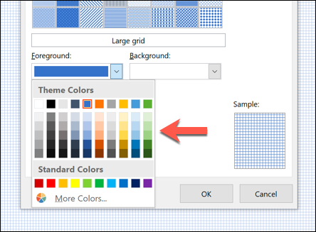 "Click ""Foreground,"" and then select a color."