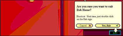 """The """"Are You Sure You Want to Exit?"""" message in Microsoft Bob."""