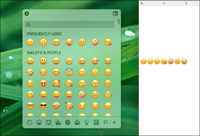 Drag the emoji pop-up window to turn it into an independent window on your Mac.