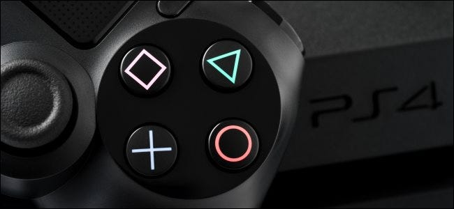 A DualShock 4 controller for PlayStation 4.