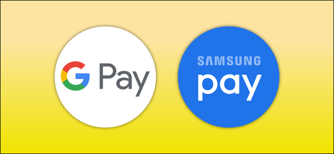 The Google Pay and Samsung Pay logos.