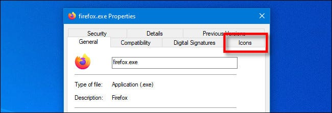 "In the EXE Properties window on Windows 10, click the special IconViewer ""Icon"" tab."