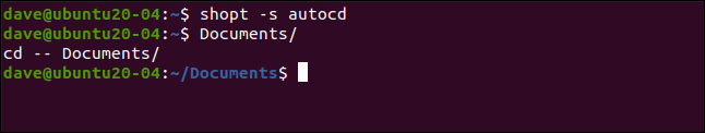 shopt -s autocd in a terminal window.