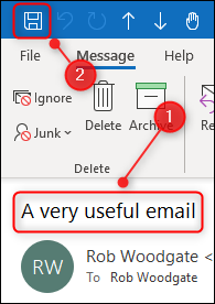 """An edited subject line and the """"Save"""" button."""