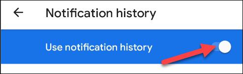 use notification history toggle