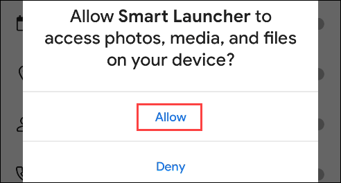 allow permissions