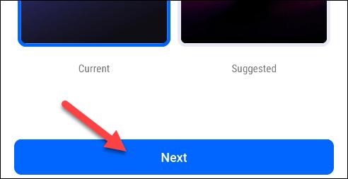 elige un fondo de pantalla y toca siguiente