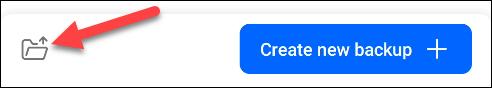 tap the folder icon