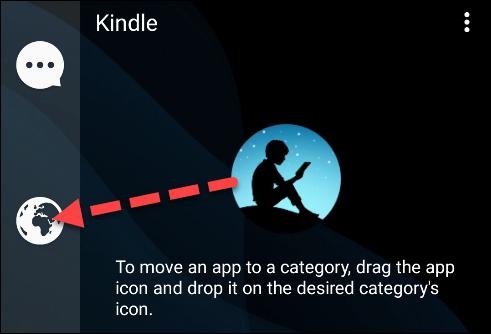 mover la aplicación a una nueva categoría