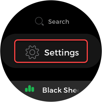 Spotify Watch app settings