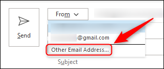 """The """"Other Email Address"""" option."""