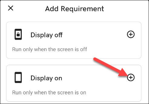 "Tap ""Display On."""