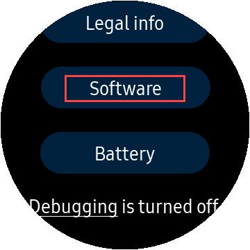samsung watch software information