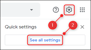 "The Settings cog and the ""See all settings"" button."