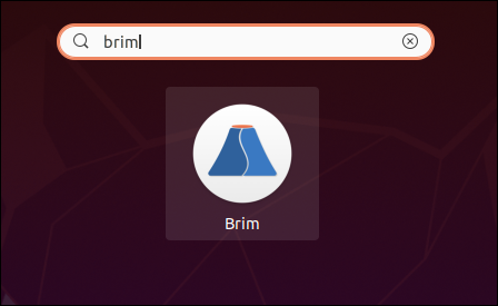 "Type ""brim"" in the Search box."