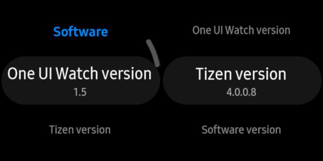 uma informação de interface do usuário e tizen