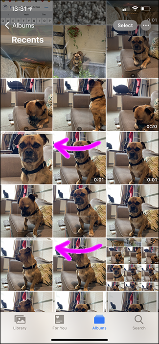 burst stack iphone