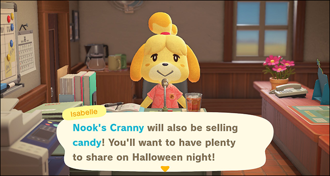 ACNH Isabelle candy announcement
