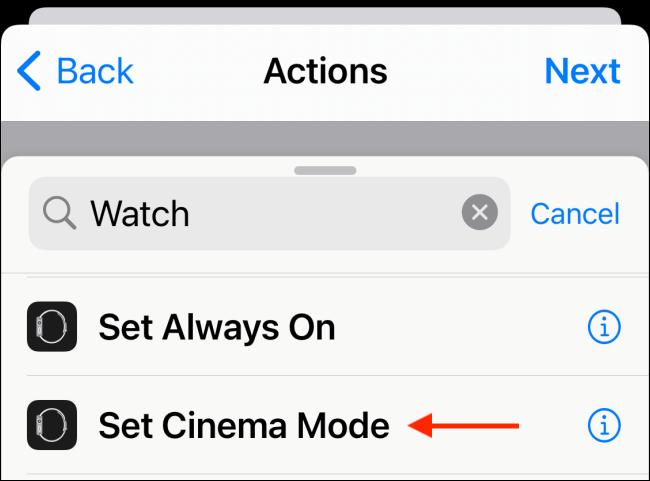 Choose Set Cinema Mode or Set Theatre Mode