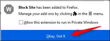 """Click """"Okay, Got it."""""""