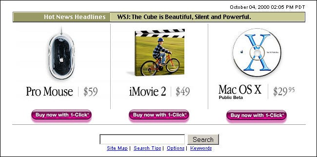 The Mac OS X Public Beta CD on the Apple website in October 2000.