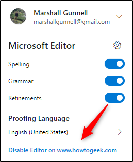 Disable option in Editor