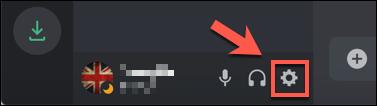 Tekan ikon tetapan cog di sebelah nama pengguna anda di sudut kiri bawah aplikasi atau laman web Discord.
