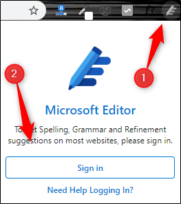 Editor extension in Chrome